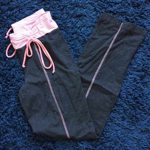 No Boundaries Pants - No Boundaries Grey and Pink Yoga Pants